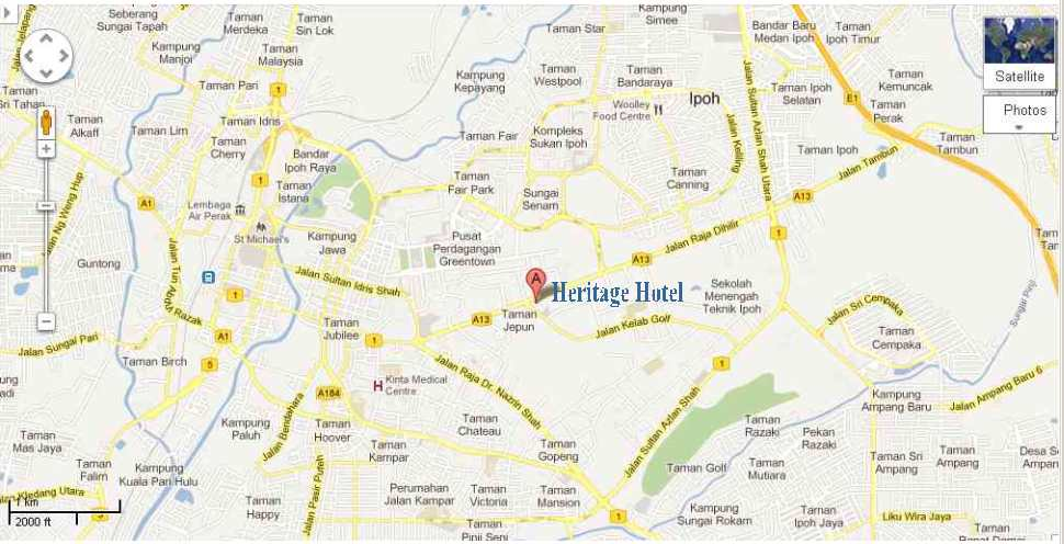Heritage Hotel Map